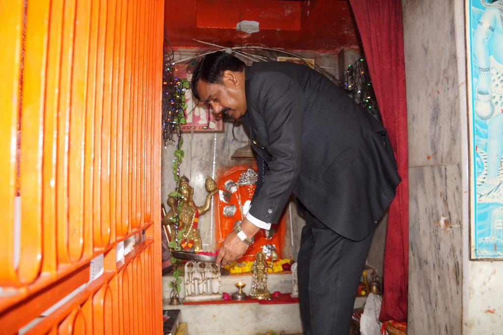 Worshiped at Hanuman Ji temple at CSAUA&T, Kanpur.